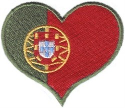 Portugal Flag Heart embroidery design