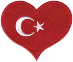 Turkey Flag Heart embroidery design