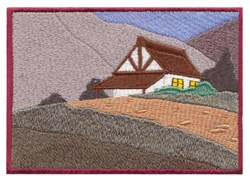 Alpine House Scene embroidery design