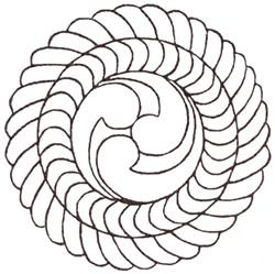 Swirl Ring Sashiko embroidery design