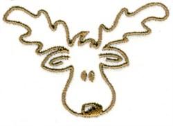 Moose Head embroidery design