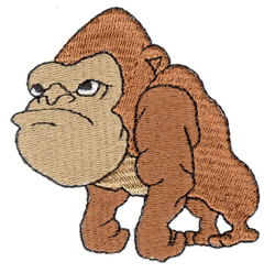 Gorilla embroidery design