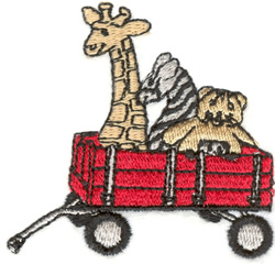 Toy Filled Wagon embroidery design