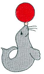 Circus Seal embroidery design