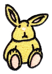 Yellow Bunny embroidery design