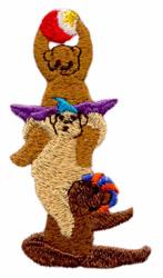 Balancing Bears embroidery design