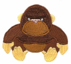 Tough Stuffed Gorilla embroidery design