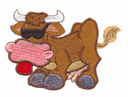 Cool Cow embroidery design