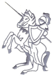 Knight on Horse embroidery design