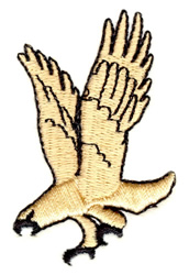 Descending Hawk embroidery design