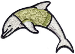 Jersey Dolphin embroidery design