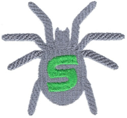 Crawling Spider embroidery design