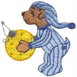 Bear and Ornament embroidery design