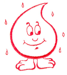 Raindrop Character embroidery design