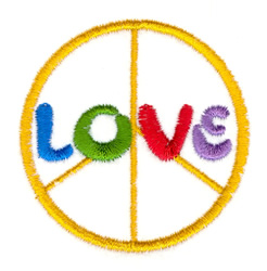 Love and Peace embroidery design