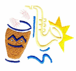 Making Music embroidery design