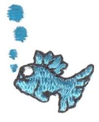 Mini Bubble Fish embroidery design