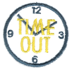 Mini Time Out embroidery design