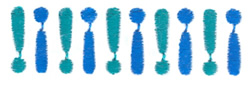 Mini Exclamation Marks embroidery design