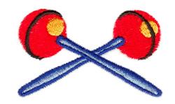 Maracas embroidery design