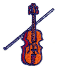 Violin embroidery design