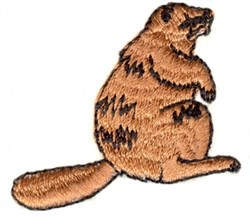 Sitting Beaver embroidery design
