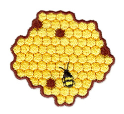 Honeycomb embroidery design