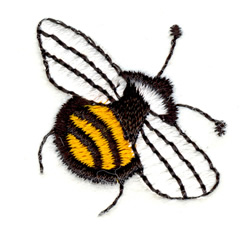 Chubby Bee embroidery design