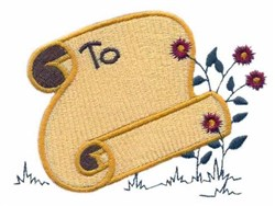 To-Book 1 embroidery design