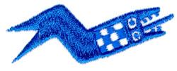 Snake Symbol embroidery design