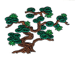 Bonsai Tree embroidery design