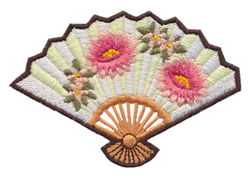 Japanese Fan embroidery design