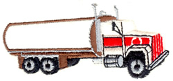 Tank Truck embroidery design