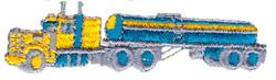 Tanker embroidery design