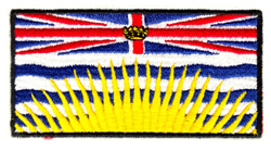 British Columbia Flag embroidery design