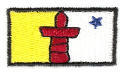 Nunavut Territory Flag embroidery design