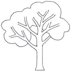 Deciduous Tree embroidery design