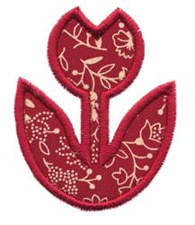 Simple Tulip Applique embroidery design