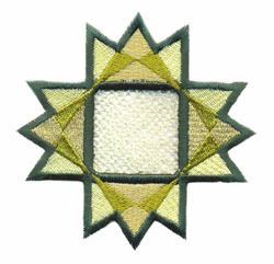 Geometric Cutwork embroidery design