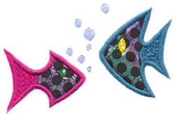 Puffy Fish Applique embroidery design