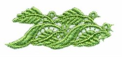 Leaf Border Double embroidery design