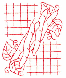 Beans embroidery design