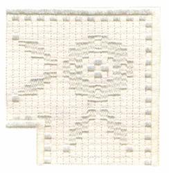 Filigree Pansies Corner embroidery design
