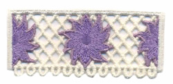 Floral Lace Border embroidery design