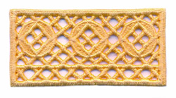 Trellis Lace Trim embroidery design