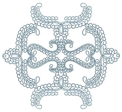 Graphic Curls embroidery design