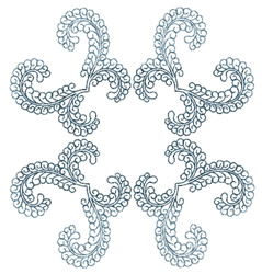 Curly Doily embroidery design