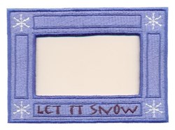 Let it Snow Frame embroidery design