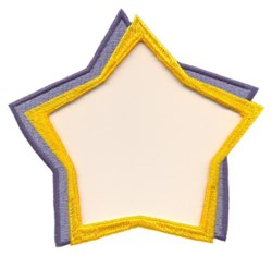 Star Frame embroidery design