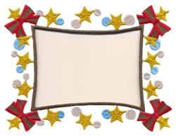 Christmas Bow Frame embroidery design